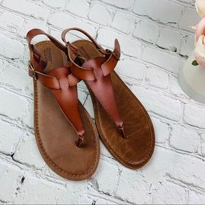 Target Mossimo brown leather thong sandals
